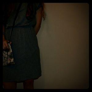 cute boho blue dress